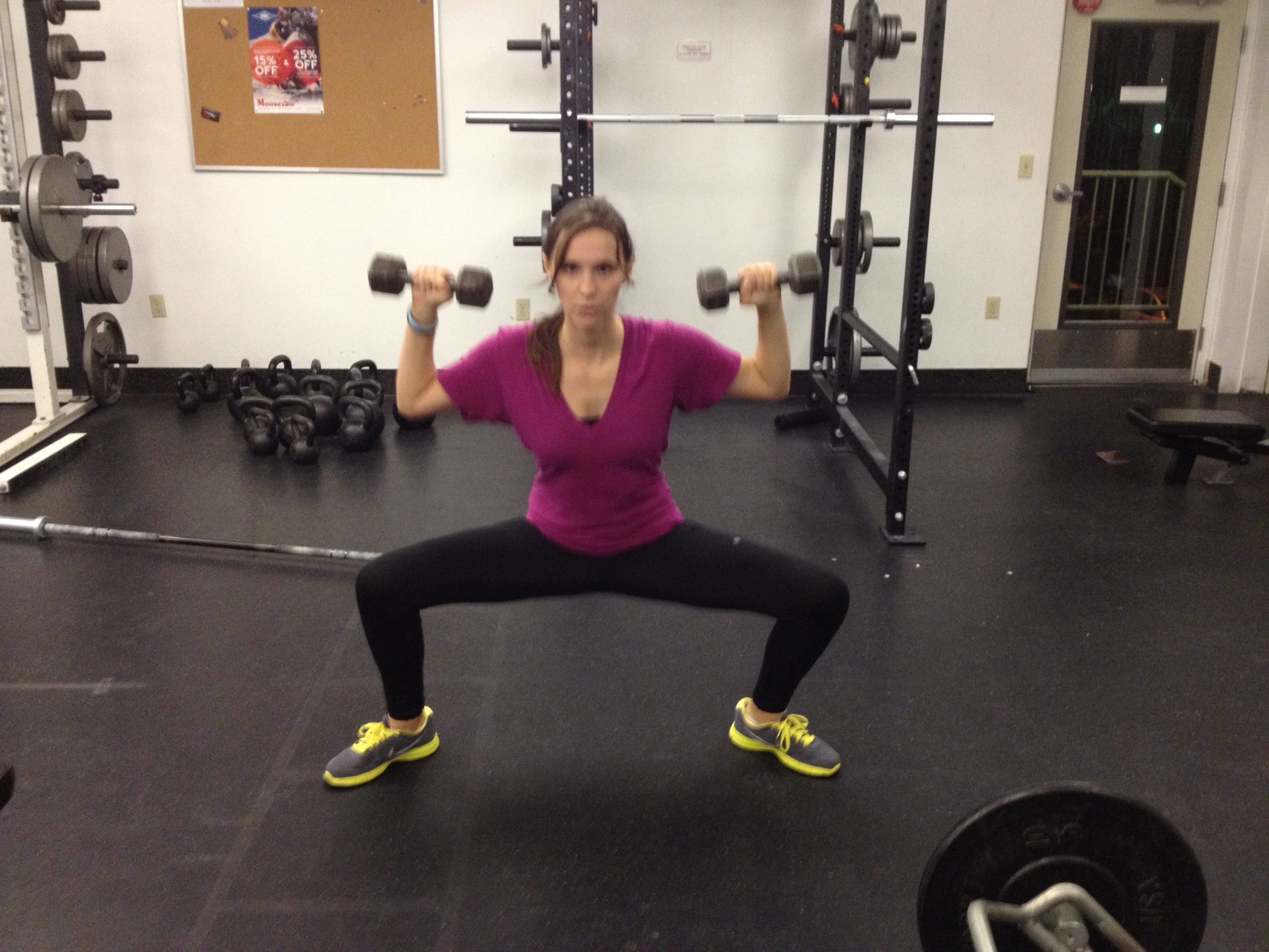 Here's me with weights, but they are unnecessary for all