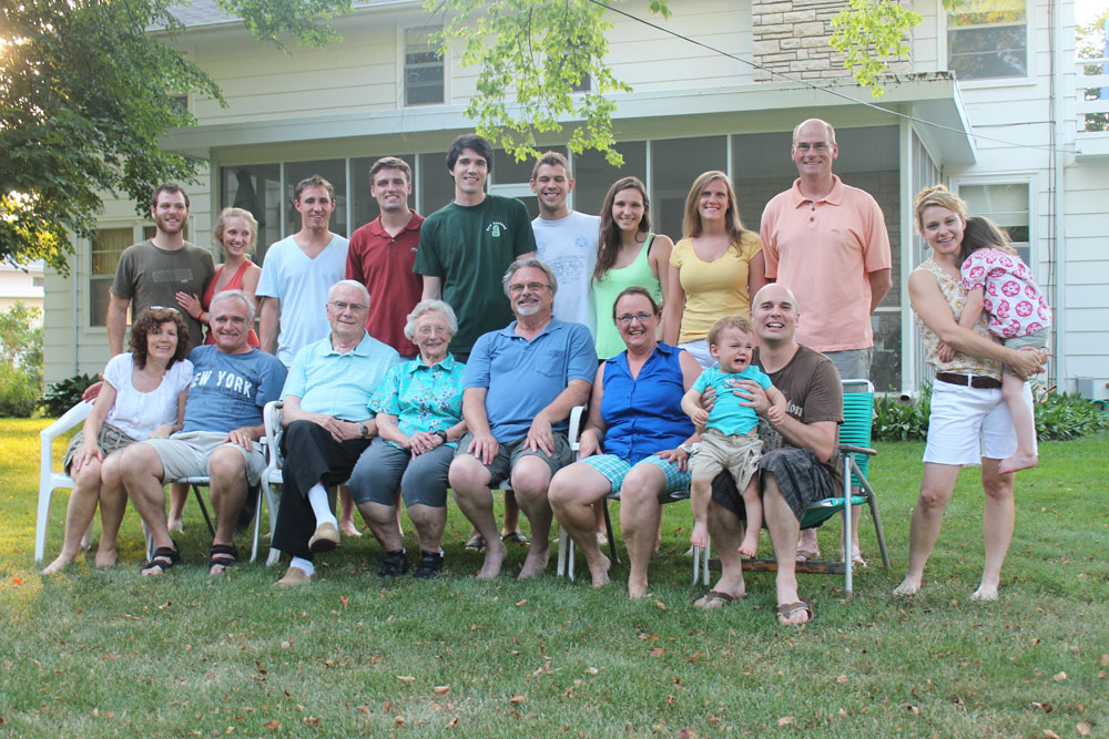 The Powell Family at our last reunion...you can find Grandma Powell sitting front and center