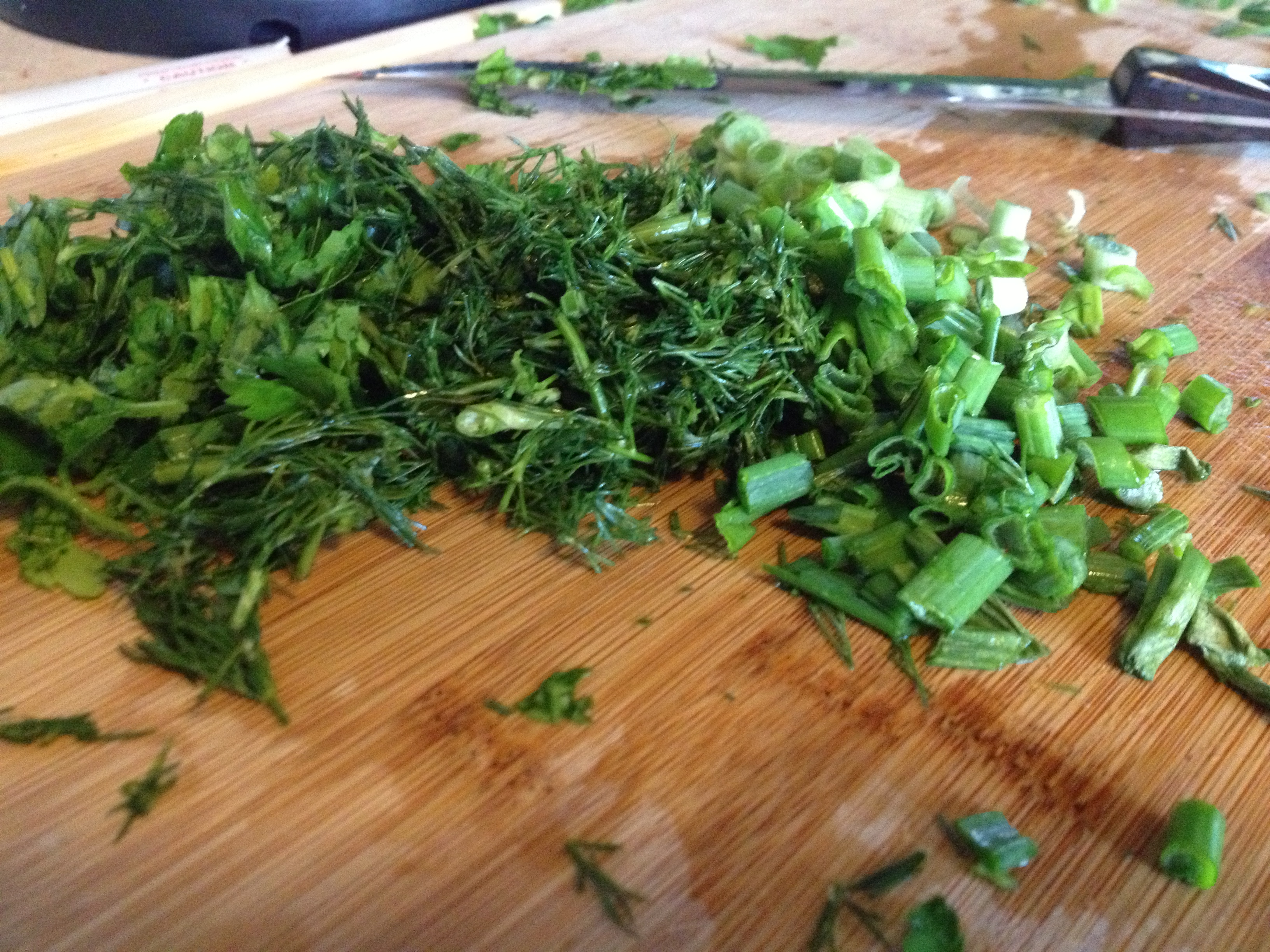 Beautiful chopped herbs/veggies