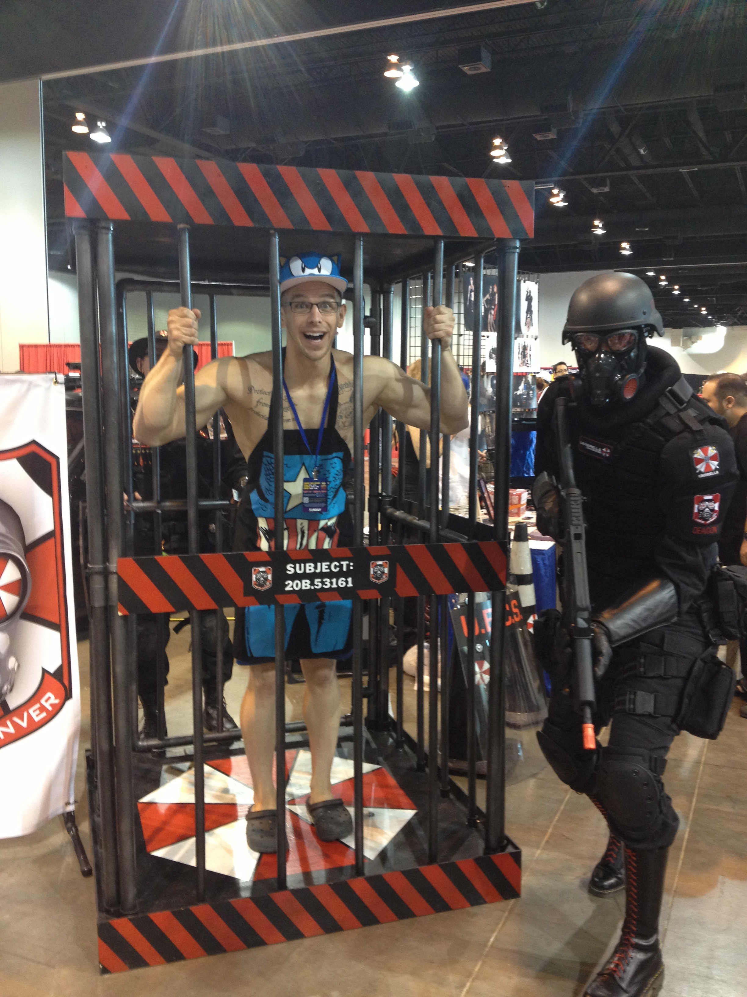 After that I got caught by Umbrella Corp because I was infected by a zombie. Their vehicle was awesome.