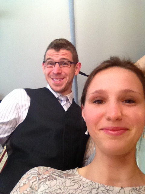Getting ready for wedding...Chris the self-proclaimed French hairstylist
