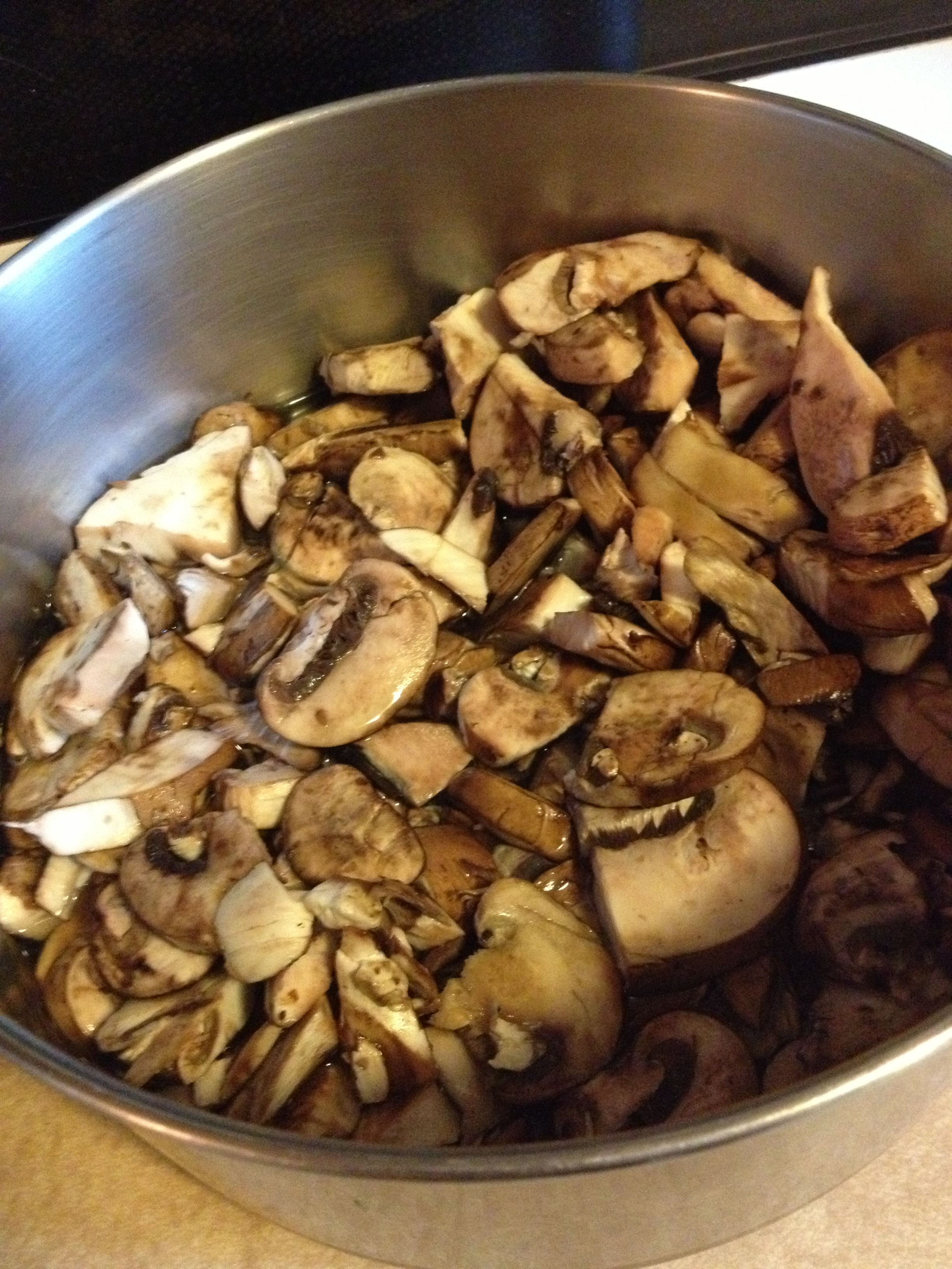 Steeping mushrooms