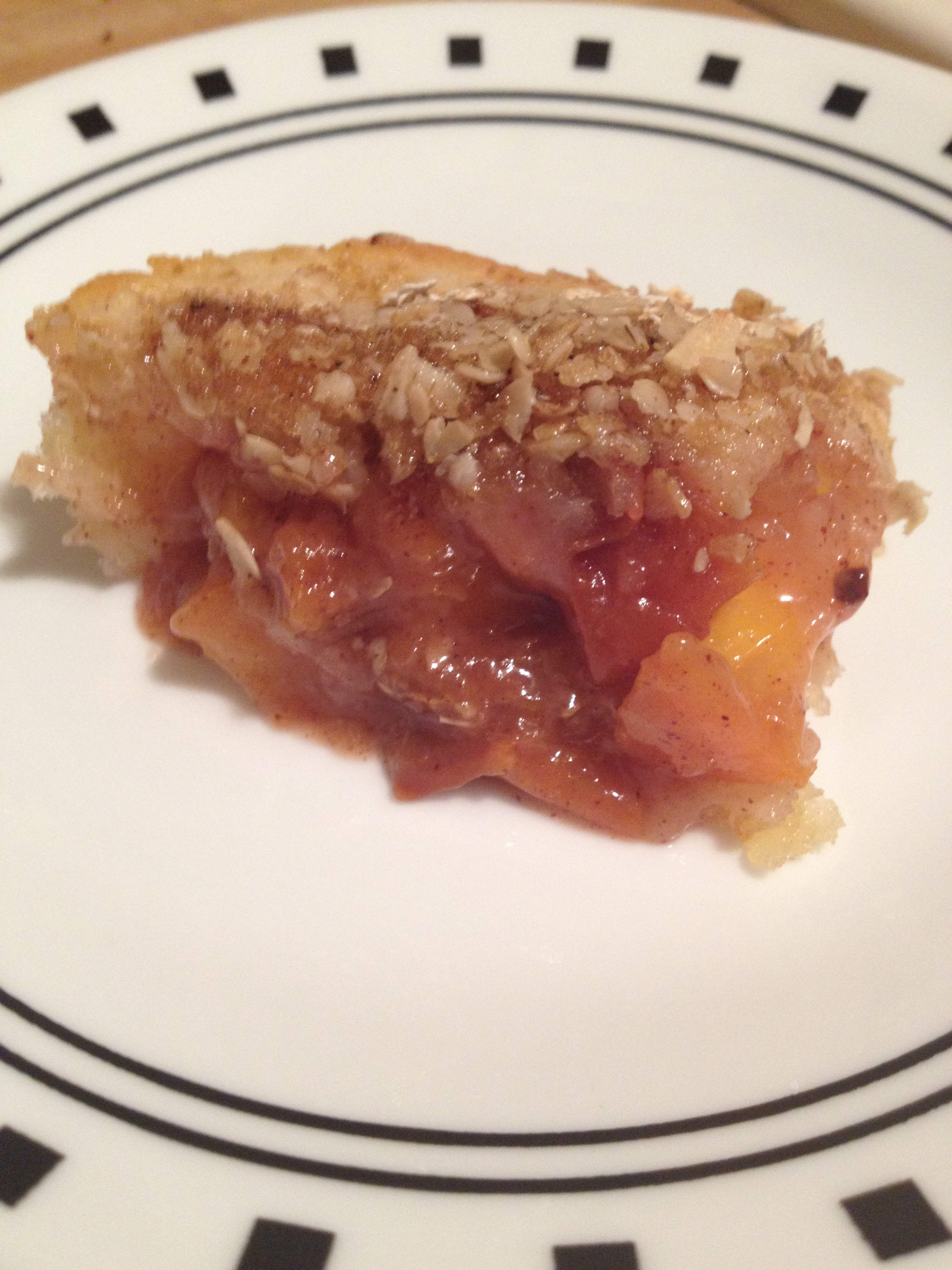 Sweetie-Pie Peach Cobbler - hungry and fit
