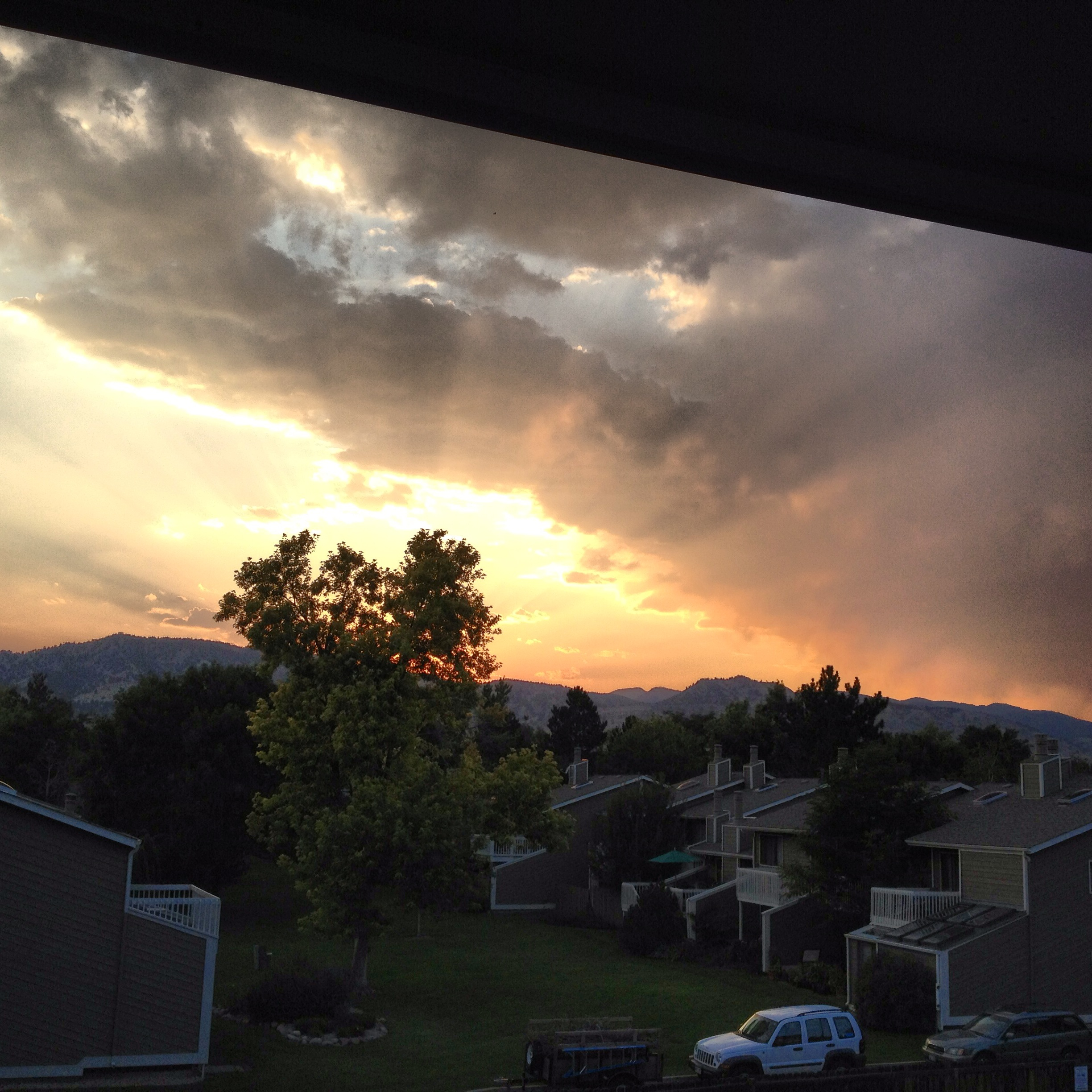 Beautiful Boulder sunset