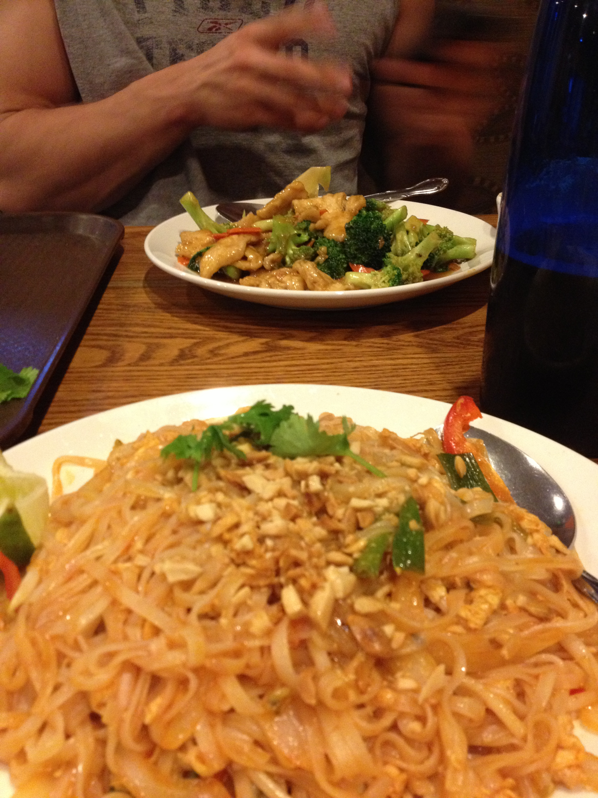 I got a delicious Pad Thai and he got Chicken and Broccoli
