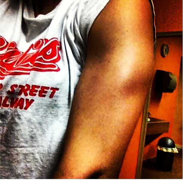 Triceps shot from a recent workout