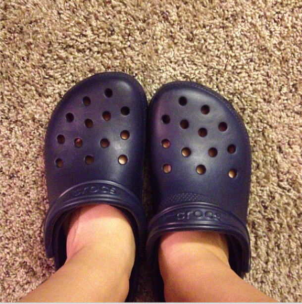 Chris got me crocs!! I know my friends will be so happy (not