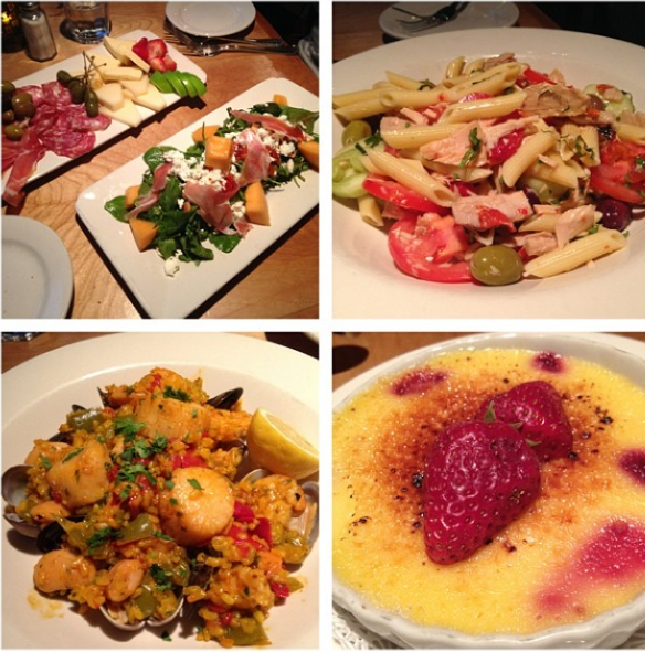 Chris surprised me with a 3-course meal from one of our favorite restaurants, Dagabi Cucina
