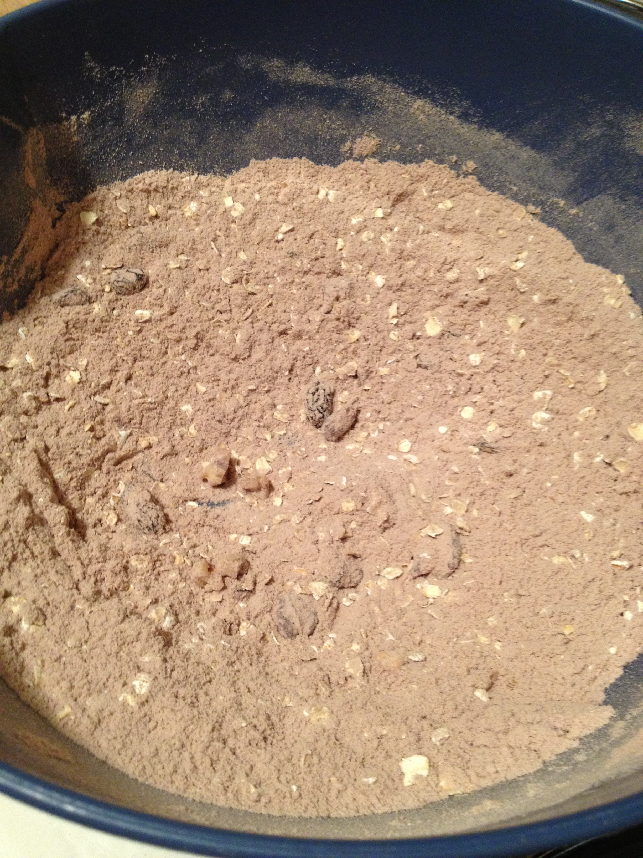 Dry ingredients mixed together
