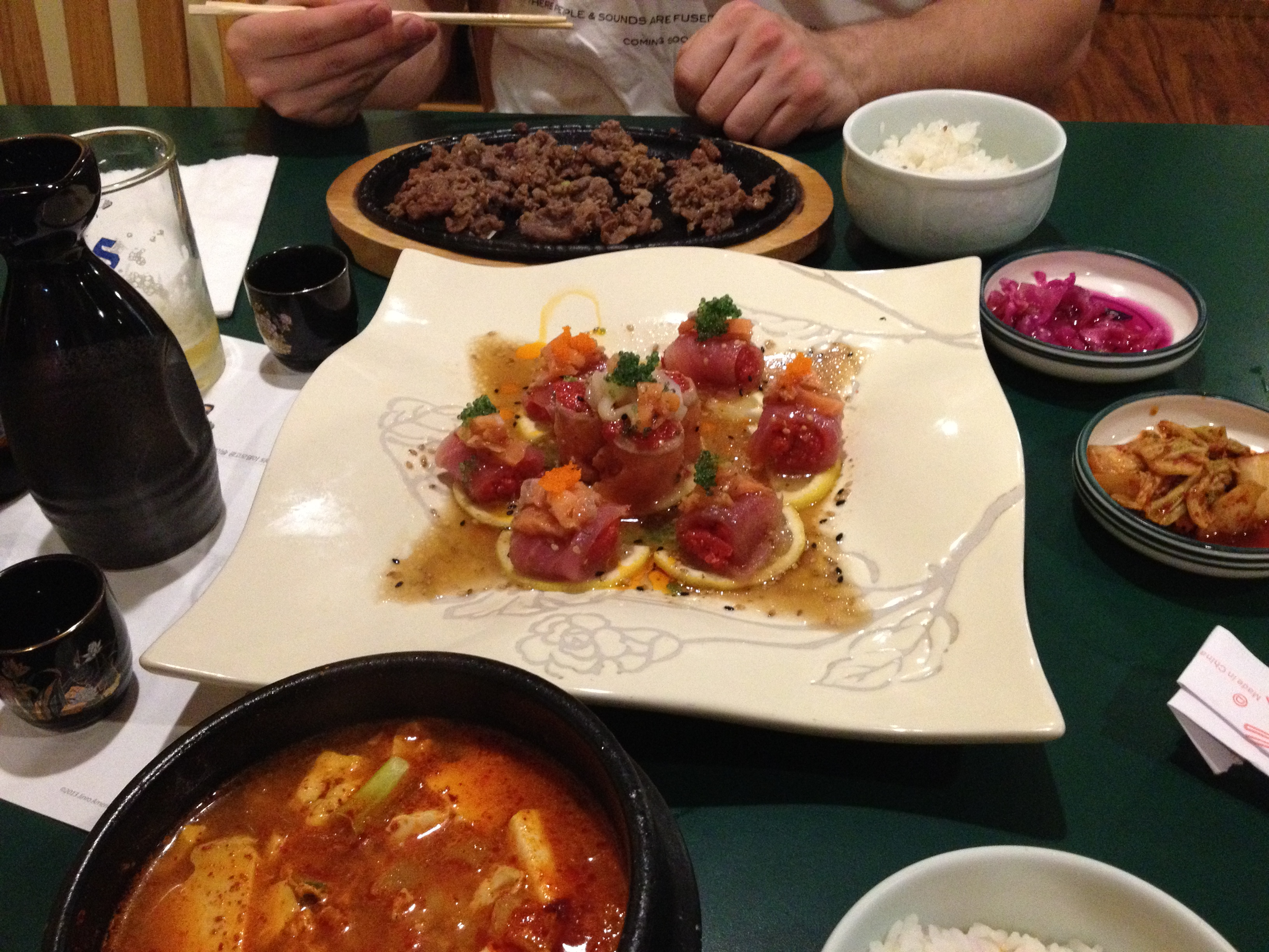 Korean birthday feast