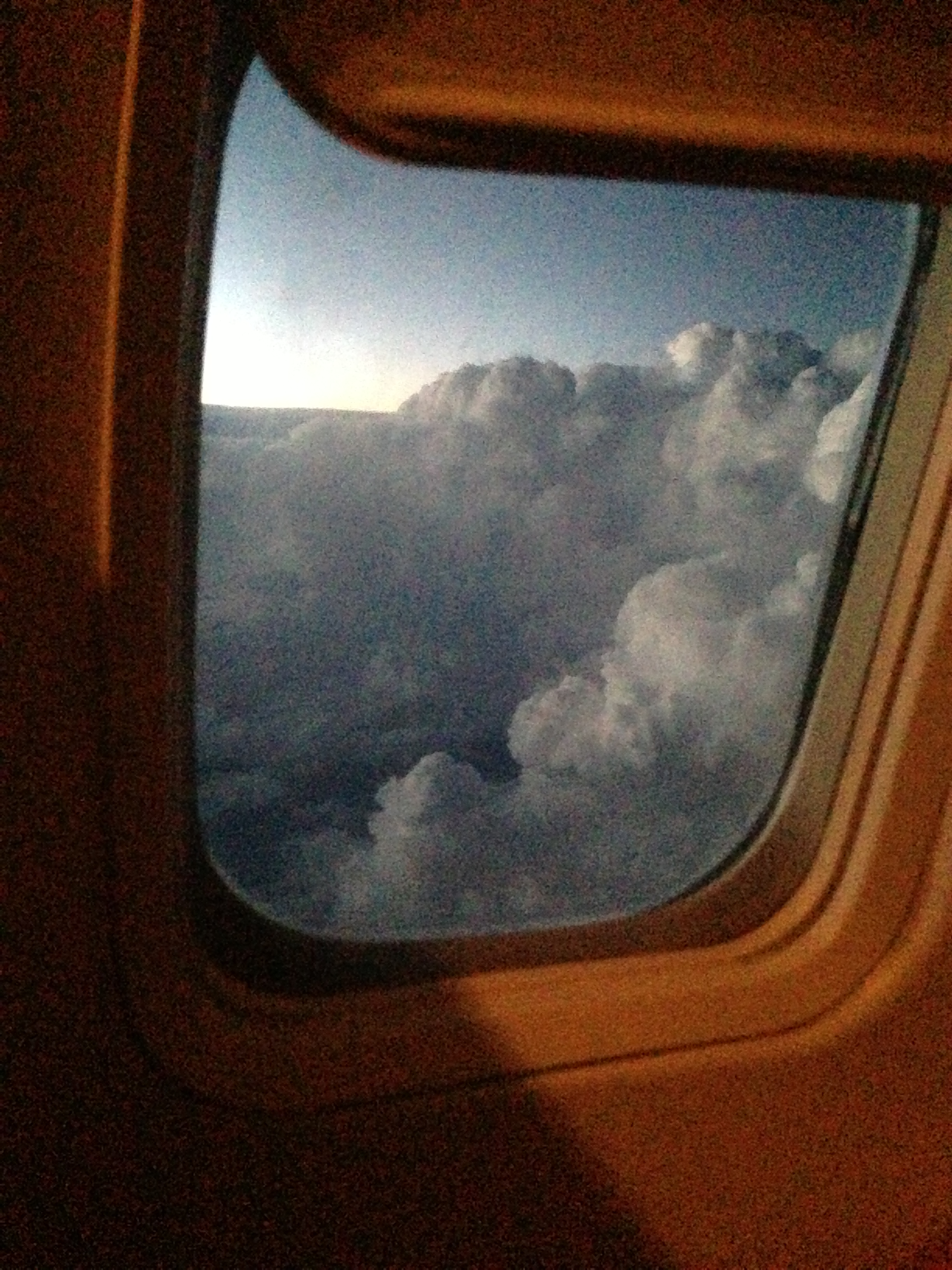 Thunder storm below us