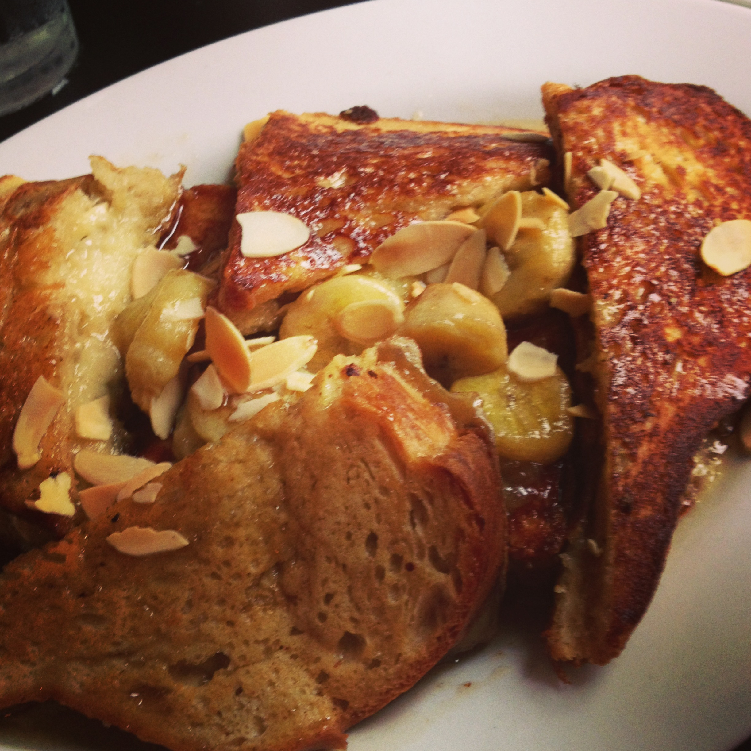 Brie-stuffed french toast. yup.