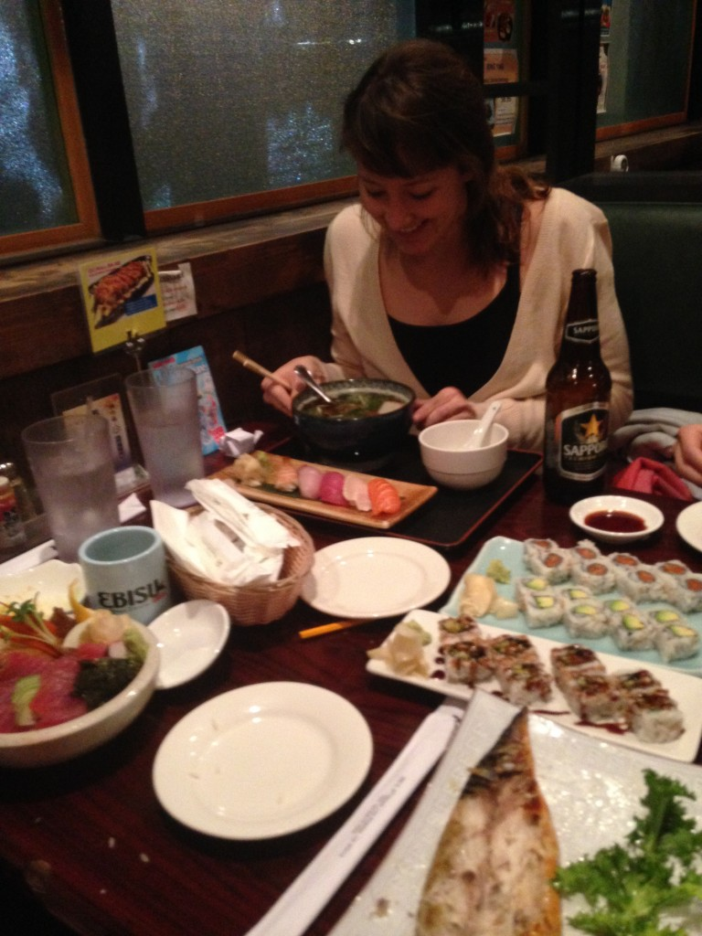 Japanese food with Sophie and Kai