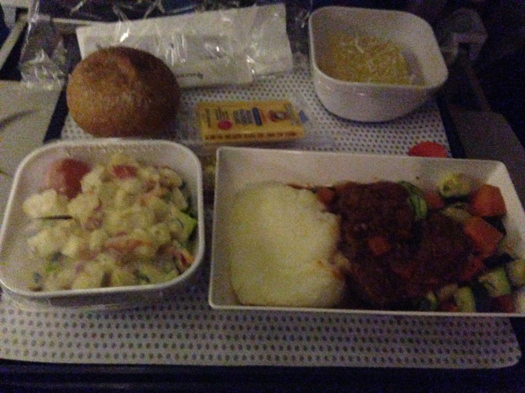 Airplane food, not bad!