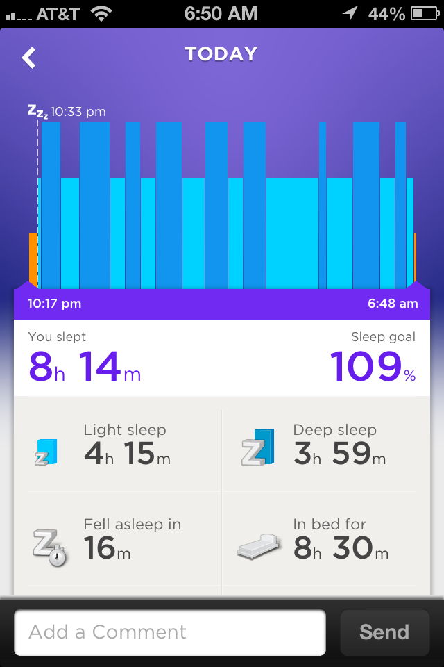 Jawbone UP...records movement, sleeping, and eating. A wrist band.
