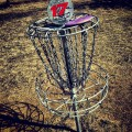 Frisbee golf! beautiful day