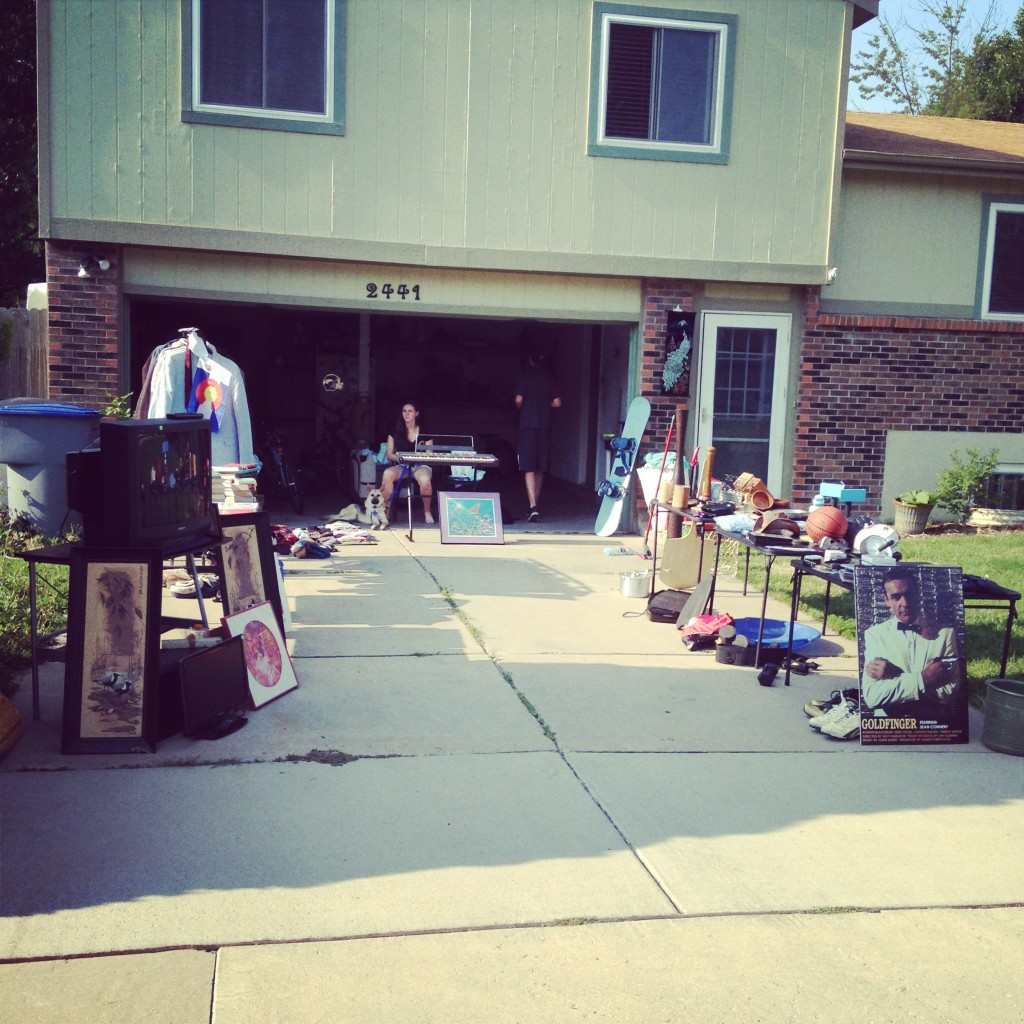 Our weekend consisted mainly of garage sales..