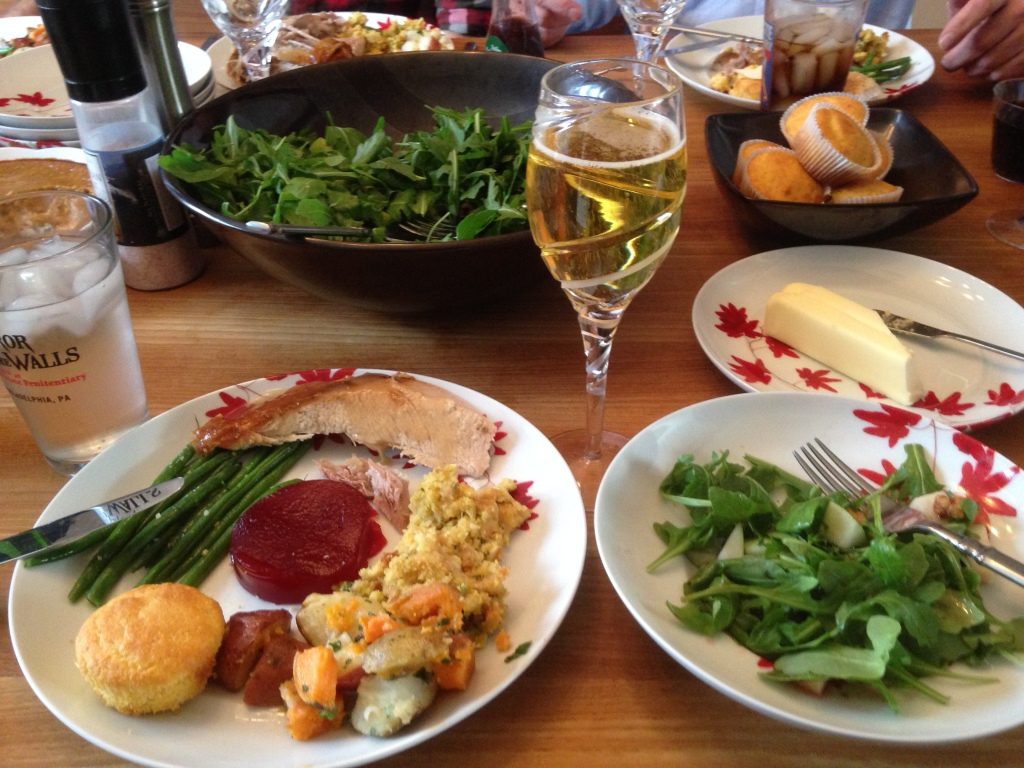 An amazing Thanksgiving dinner cooked by Hungry's sister