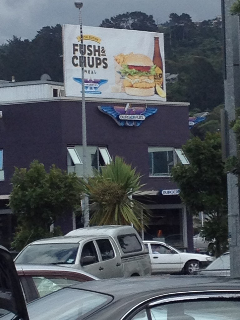 Chris'  favorite burger place in NZ