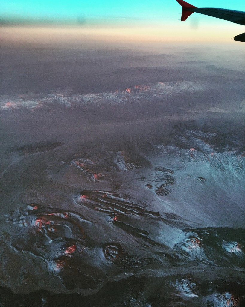 Amazing views from the plane back to Los Angeles