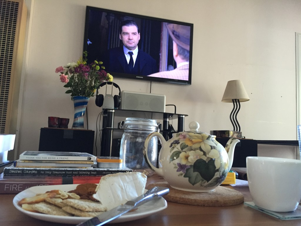 Tea parties and Downton  Abbey marathon with my friend, Sam