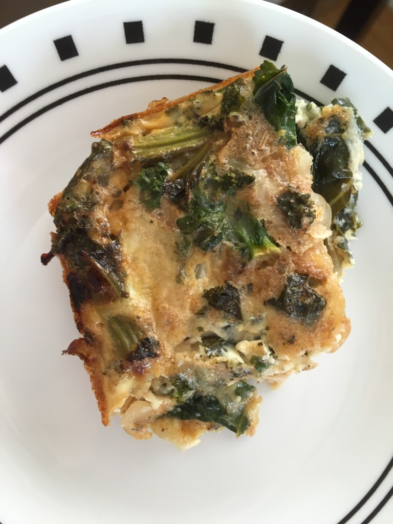 Crustless Kale Quiche - hungry and fit