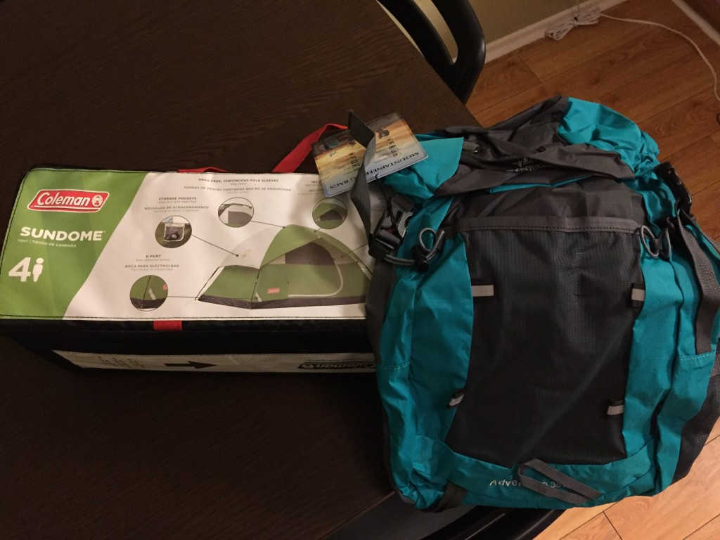 Bought a tent and backpack!