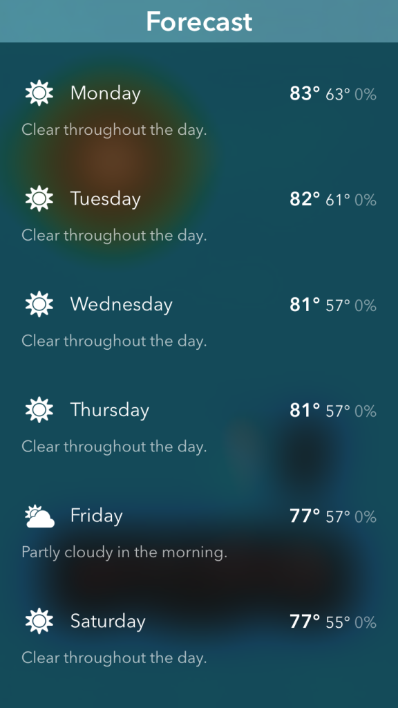 Looking forward to a cooler week