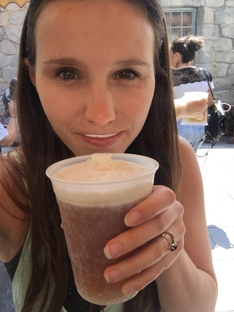 Got my butterbeer--yummo!