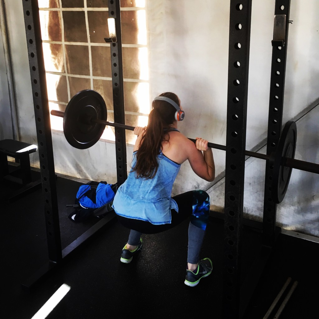 This new year has been filled with workouts--especially squat workouts!