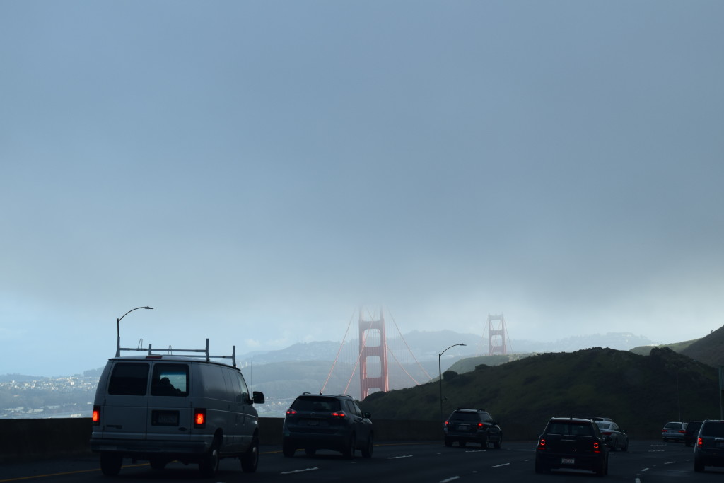 Our first view of the Golden Gate as we made our way to San Fran!