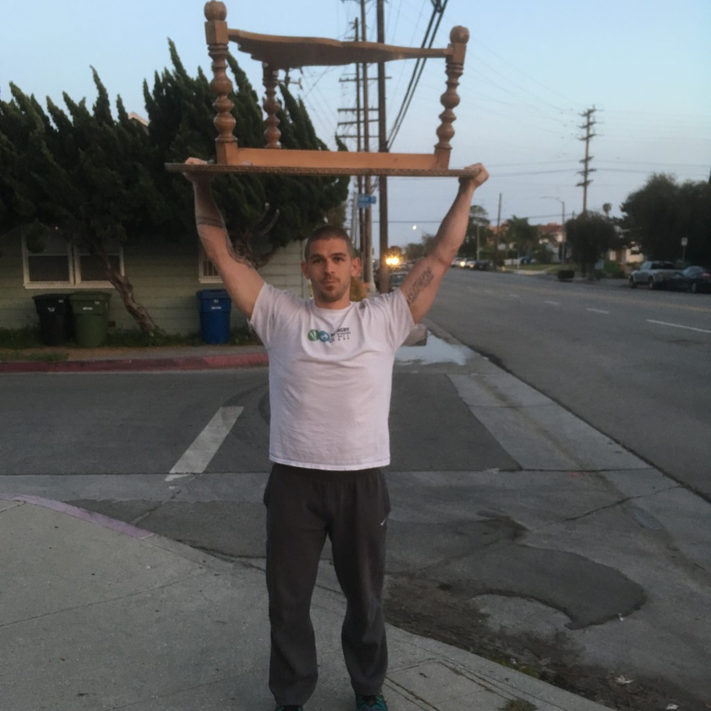 Picking up furniture off the street and selling it!