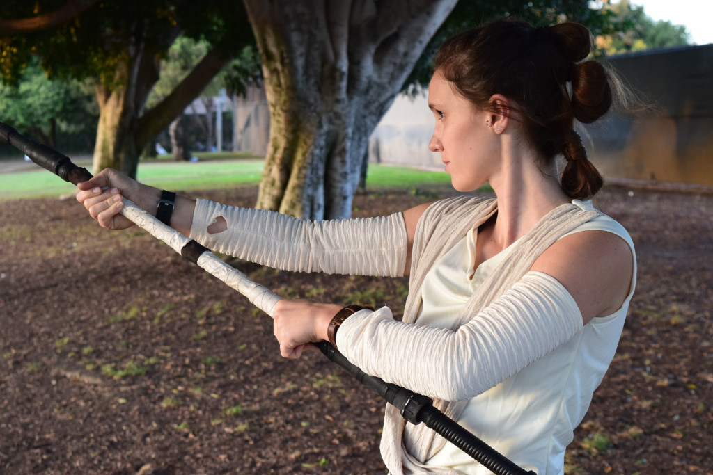 Celebrated May the 4th (Star Wars day) by remembering cosplaying as Rey