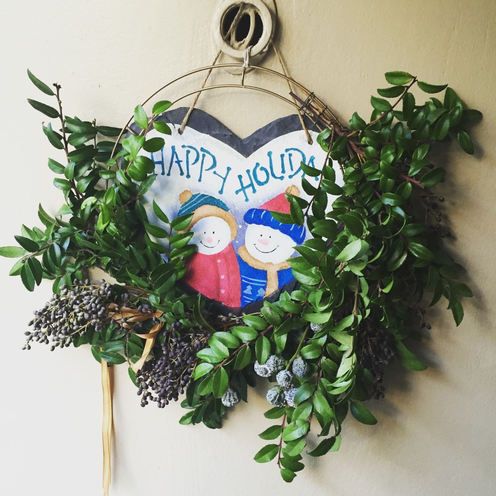 Beautiful holiday wreath by Sibyl Sophia Floral Design
