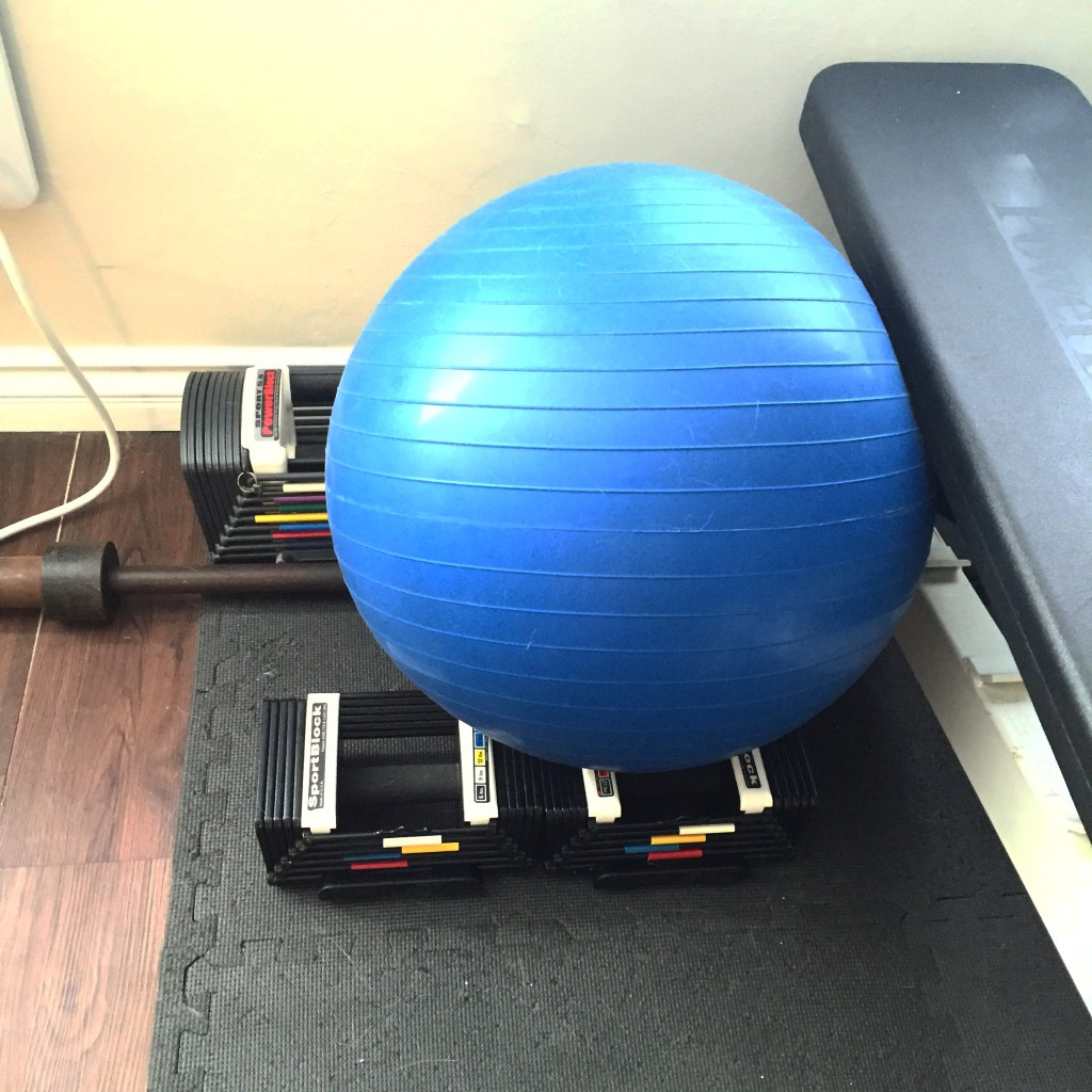 Which means she can work out again!