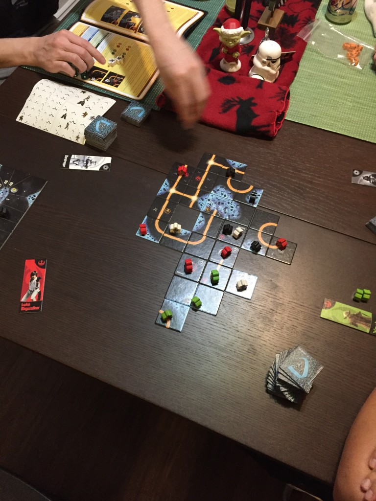 Pre-gamed opening night of Star Wars with some board games