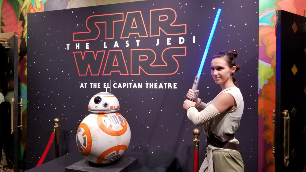 and finally, Fit's highlight of the week.... opening night of Star Wars: The Last Jedi at El Capitan!